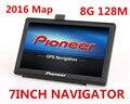Novo 7 polegada CAMINHÃO Do Carro HD GPS Navigator 800 MHZ FM/8 GB/DDR 128 M Novos Mapas rússia/Bielorrússia/Cazaquistão Europa/EUA + Canadá gps de navegação