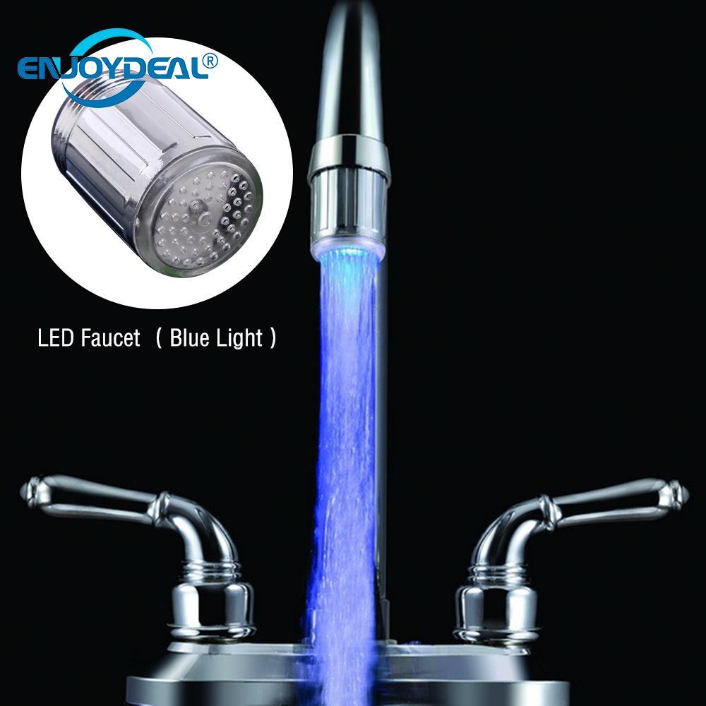 enjoydeal LED Shower Tap Faucet Nozzle Head Novelty Faucet Nozzle Head Shower Tap Luminous Glow Light-up Bathroom 3 Type Light