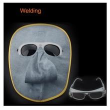 New arrival  CE Leather welding Masks Face Shields Black Glasses Tig Mig Arc Welding helmet Goggles