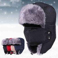 Nowa Moda Zima Fur Kapelusze Odkryty Windproof Gruby Ciepły Śnieg kobiety Cap Maska męska Jazda Na Rowerze Hat Skullies czapki dla mężczyźni