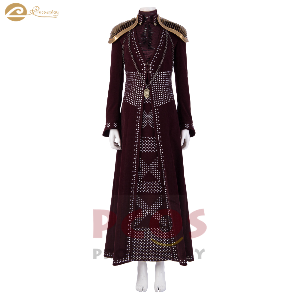 Procosplay Game of Thrones Season 8 Cersei Lannister Cosplay Costume mp004934 image