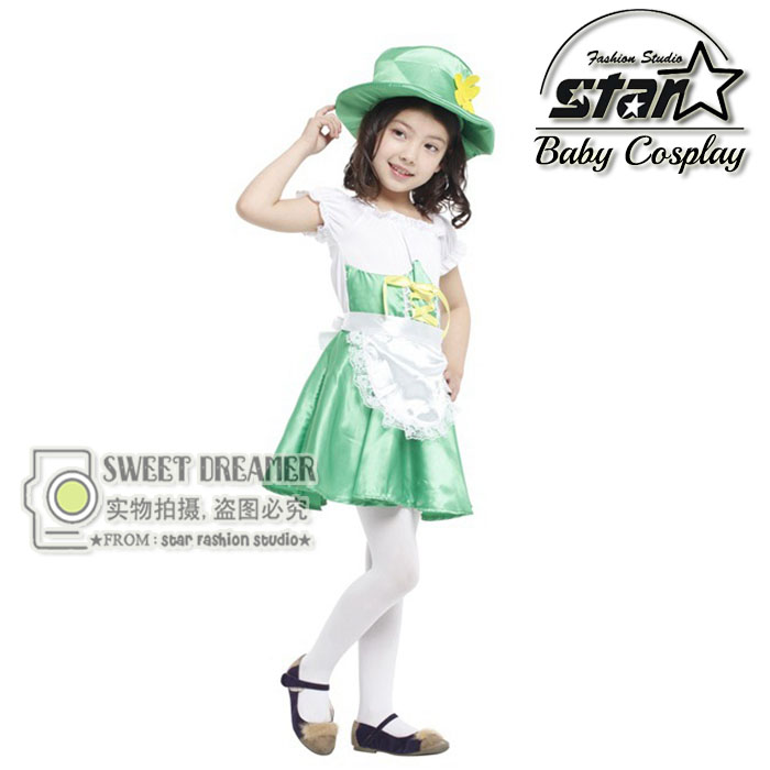 Halloween Party Costumes for Children Girl Fantasia Cute Cosplay Ireland Elf Costume Kids Lolita Stage Performance Clothes halloween party pirate capain jack cosplay boy clothing halloween costume for kids children performance stage costumes