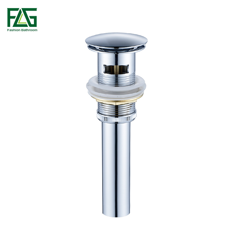 FLG Brass Bathroom Lavatory Sink Pop Up Drain Chrome with without Overflow Bathroom Basin Sink Use Bathroom Accessories in Drains from Home Improvement