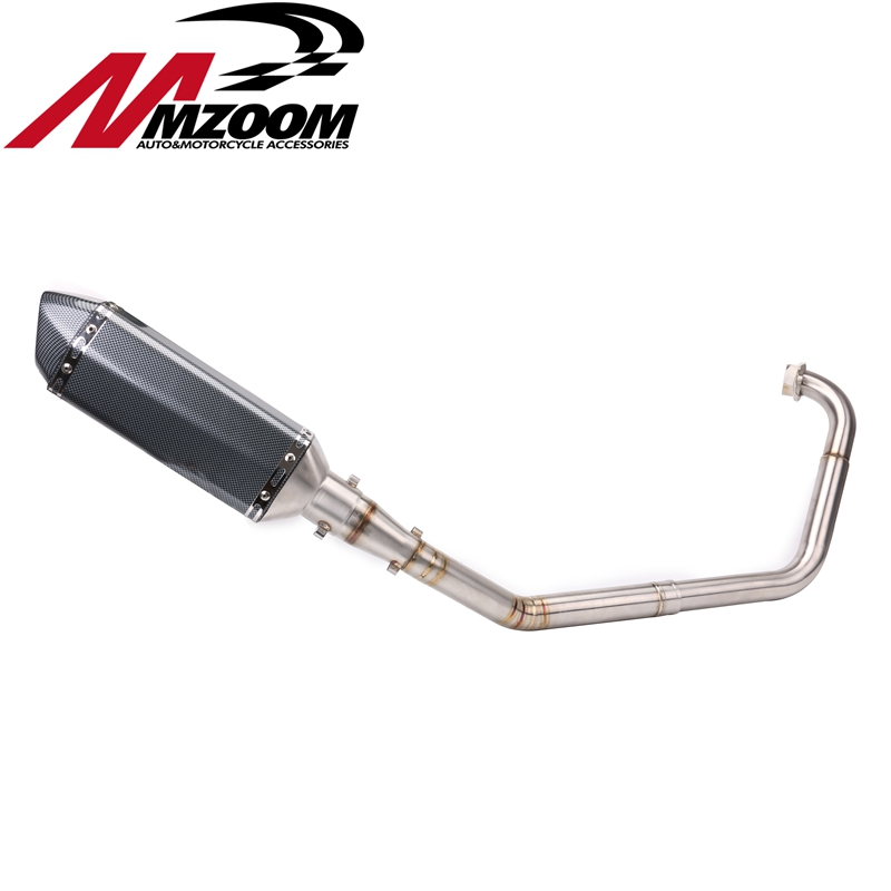 Exhaust Pipe Link Muffler Motorcycle Motorbike Mid Down for Yamaha R15+51mm exhaust Modified Scooter Exhaust Muffle GY6 new motorcycle exhaust full stystem mid link pipe motorbike laser marking muffler for ducati scrambler with muffler