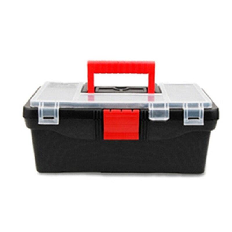 Portable toolbox 12 5 two layer black plastic pp tool the - Cajas de erramientas ...