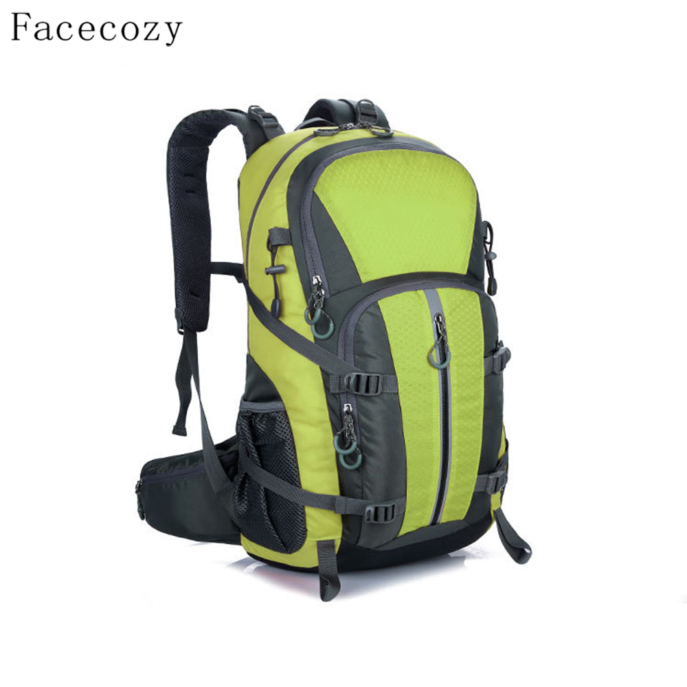 Facecozy Outdoor Camping Wear Resistant 40L Backpack Mountaineering Hunting Travel Backpack Big Capacity Waterproof Sports Bag koraman professional 40l knapsack outdoor waterproof mountaineering bag nylon backpack wear resistant tourist strip package 1406