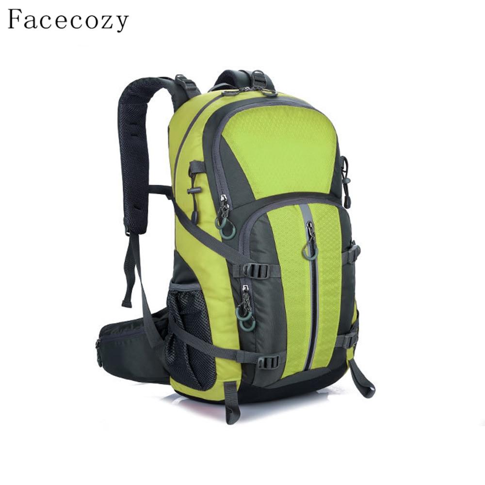 Facecozy Outdoor Camping Wear Resistant 40L Backpack Mountaineering Hunting Travel Backpack Big Capacity Waterproof Sports Bag