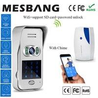 Горячий новый пароль разблокировка двери внутренней связи с Wi Fi видео дверной звонок беспроводной видеодомофон 120 градусов поддержка 32 г за