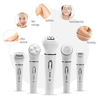 5 In 1 Electric Shaver Razor Women Epilator Shaving Lady's Shaver Women Shaver Wool Device Callus Remover Facial Cleansing Brush