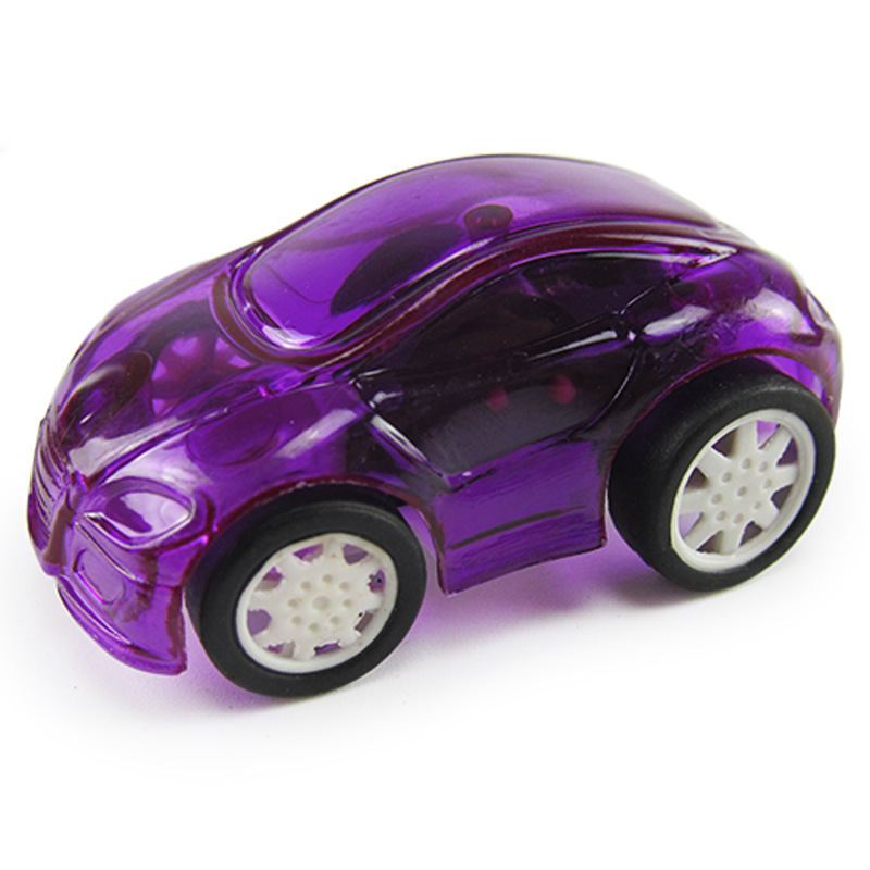 8pcs cute candy color mini car transparent plastic toy cars for kid child baby hot wheels