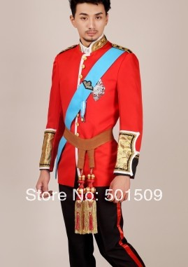 prince william red color medieval suit including top jacket and trousers prince charming costume