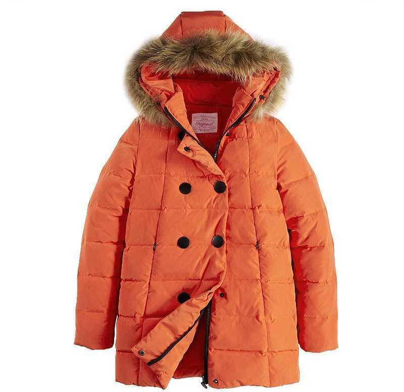 New 2015 Women Fur Hooded Double Breasted Coats Fashion Winter Thicken Wadded Jackest Woman Long Parkas Overcoat H4576