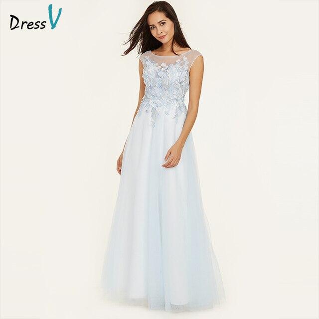 b1788472cc Dressv ice niebieska suknia linia rękawy cap tanie piętro długość wesele  suknia aplikacje suknie wieczorowe