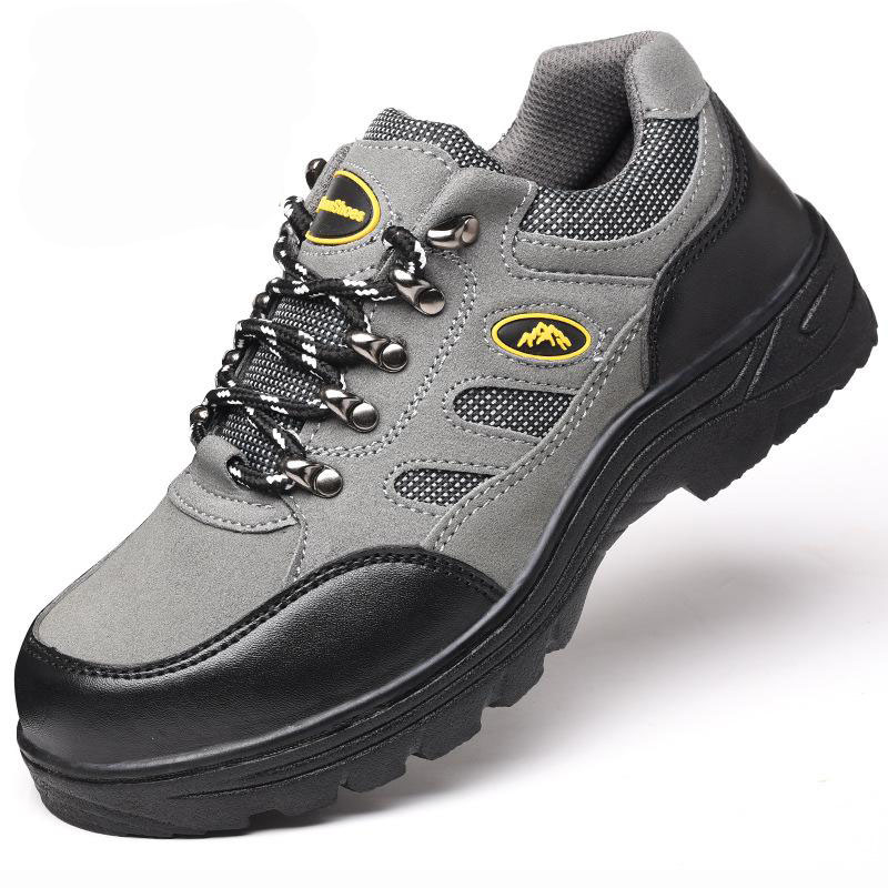 Safety Shoes Cap Steel Toe Safety Shoe Boots For Man Work Shoes Men Breathable Mesh Size 12 Footwear Wear-resistant GXZ027 super shock absorbing steel toe cap safety shoes tear resistant breathable work shoes
