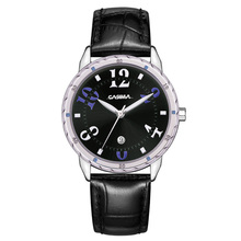 Luxury brand watches women fashion casual beauty fancy womens quartz wrist watch waterproof 50m Leather strap CASIMA 3008