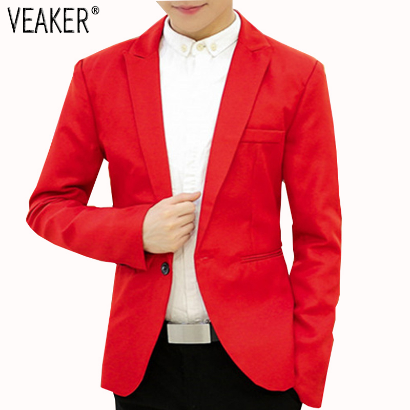 2019 Autumn Men's Blazer Suit 9 Colors Male Blazer Suits Business Slim Fit Jackets Coat Fashionable White/black/grey M-3XL