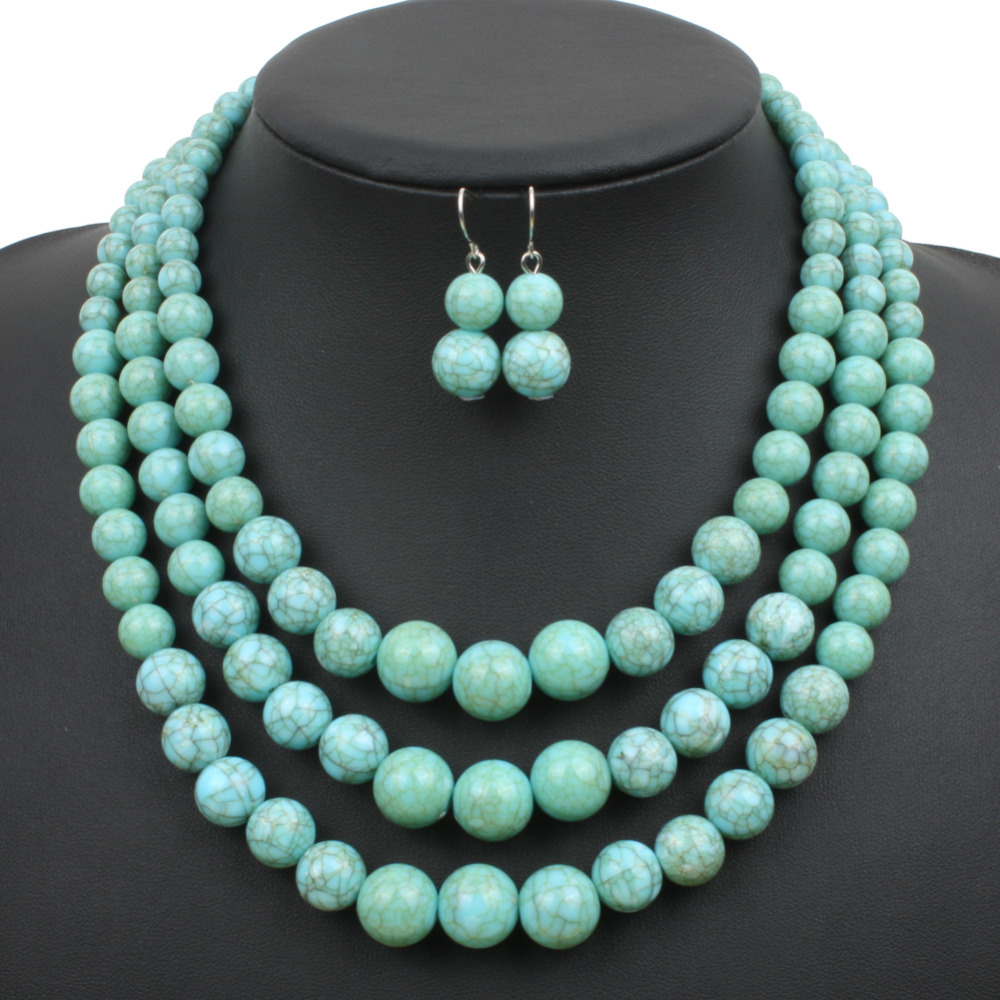 buy wholesale multi strand beaded necklaces from