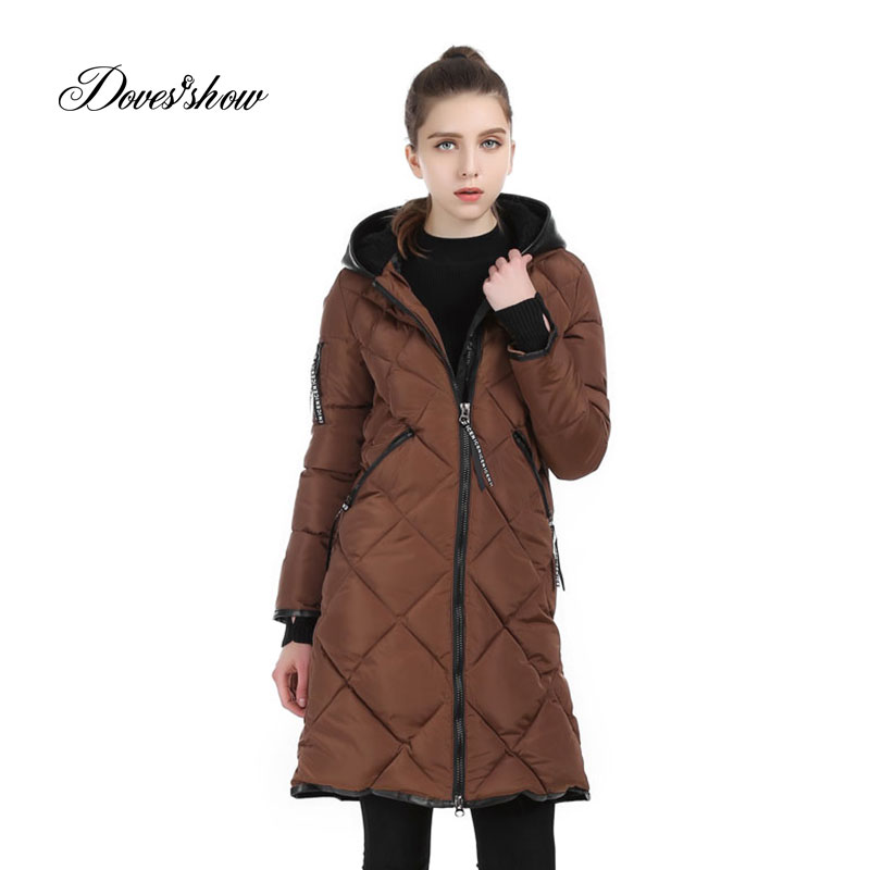 Women Winter Jacket Hooded Cotton-Padded Wadded Jacket Warm Long Down Jacket Plus Size Basic Coat Female Jacket Casaco Feminino new small women bags fashion designer girls messenger bag brand leather crossbody bags candy colors lady handbags f40 610