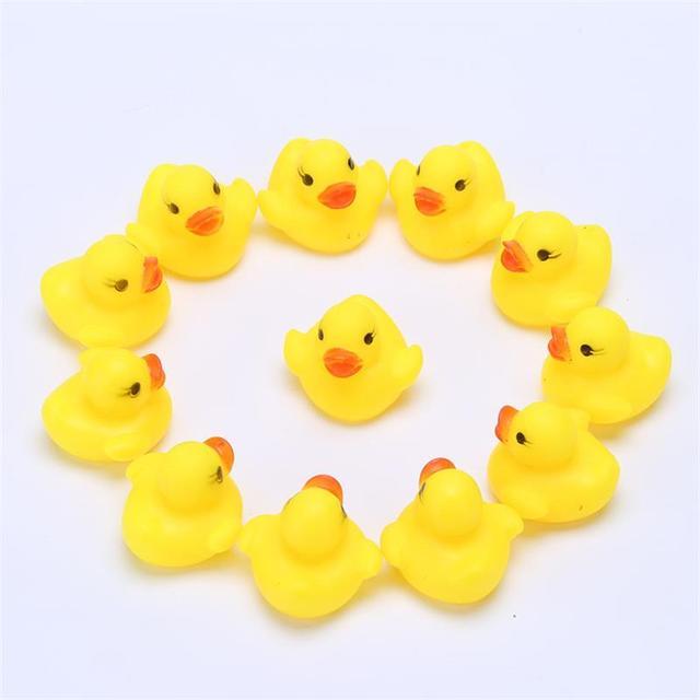 5pcs 5.5cm Kawaii Baby Floating Squeaky Rubber Ducks Kids Bath ...