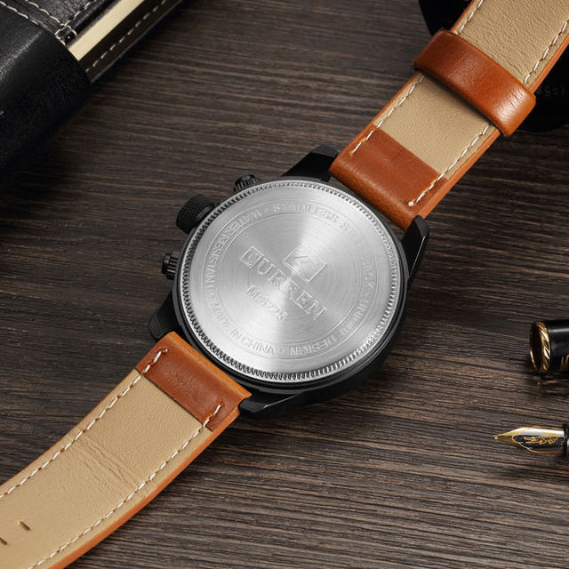 Curren Mens Watches Top Brand Luxury Leather Quartz Watch Men Fashion Casual Sport Clock Men's Wristwatch Relogio Masculino 8225