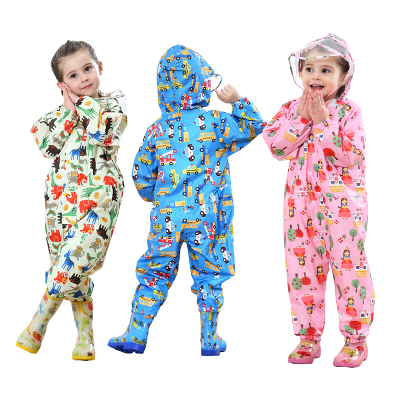 f65c58e48 Children cartoon raincoat kids jumpsuit rainwear raincover for ...
