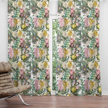 American Pastoral style Pink rose flower curtain livingroom Shading polyester Digital printing soft smooth