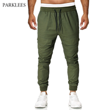Army Green Big Pocket Casual Cargo Pants 2019 Men's Fashion