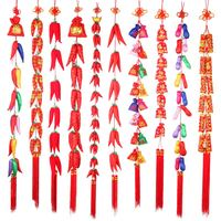Firecrackers string of New Year Spring Festival decorations hang act the role of goodies for Chinese New Year decorate monkey