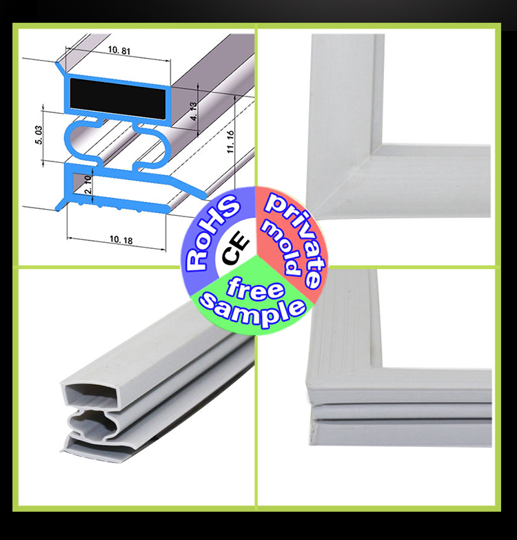 Refrigerator Magnet Seal Strip Gasket For High Temperature And Ozone Disinfection Cabinet