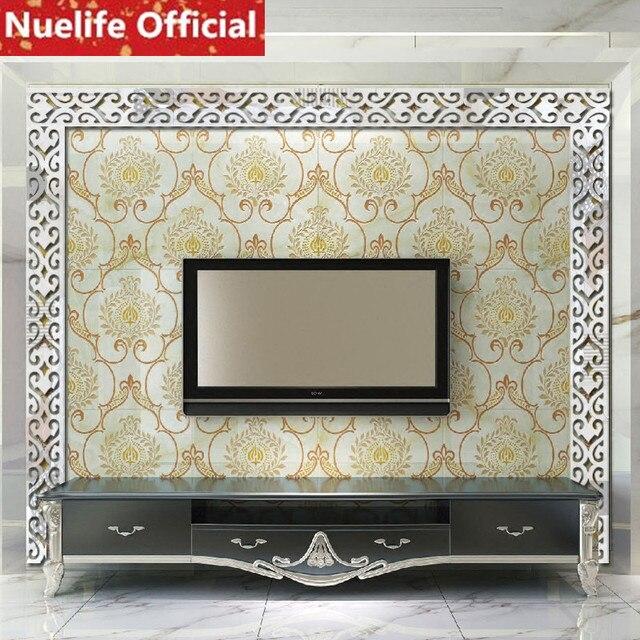Sơn ivy acrylic gương dán tường phòng khách phòng ngủ sofa TV nền treo hàng đầu ren đá dòng gương dán