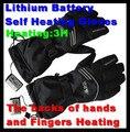 G626B USB Подогрев Перчатки Открытый Лыжный Спорт Литиевая Батарея Саморазогревающиеся Перчатки Пальцы и Задней рукой С Подогревом, С переключатель