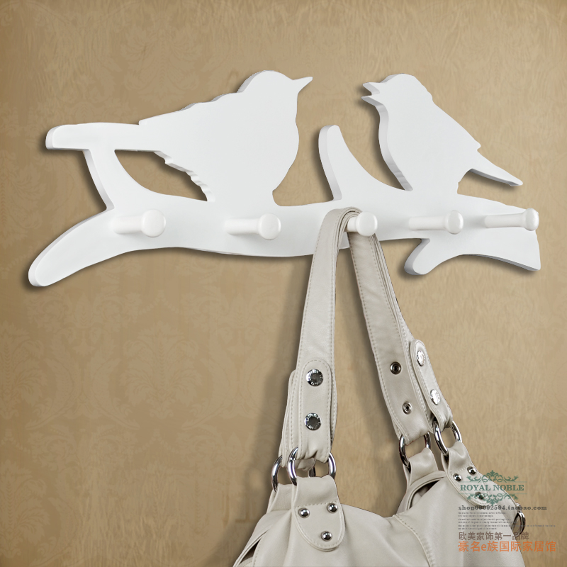 Wooden clothes rack coatrack fashion wall hanger rack of clothes hanger special pastoral
