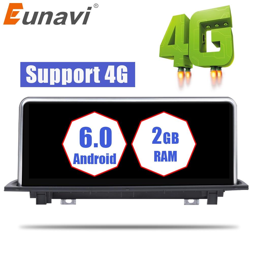 Eunavi Android 6.0 Car Radio Stereo GPS Navi Multimedia player For BMW X1 Series F48 NBT(6P) 2016 2017 WIFI 4G 10.25'' screen