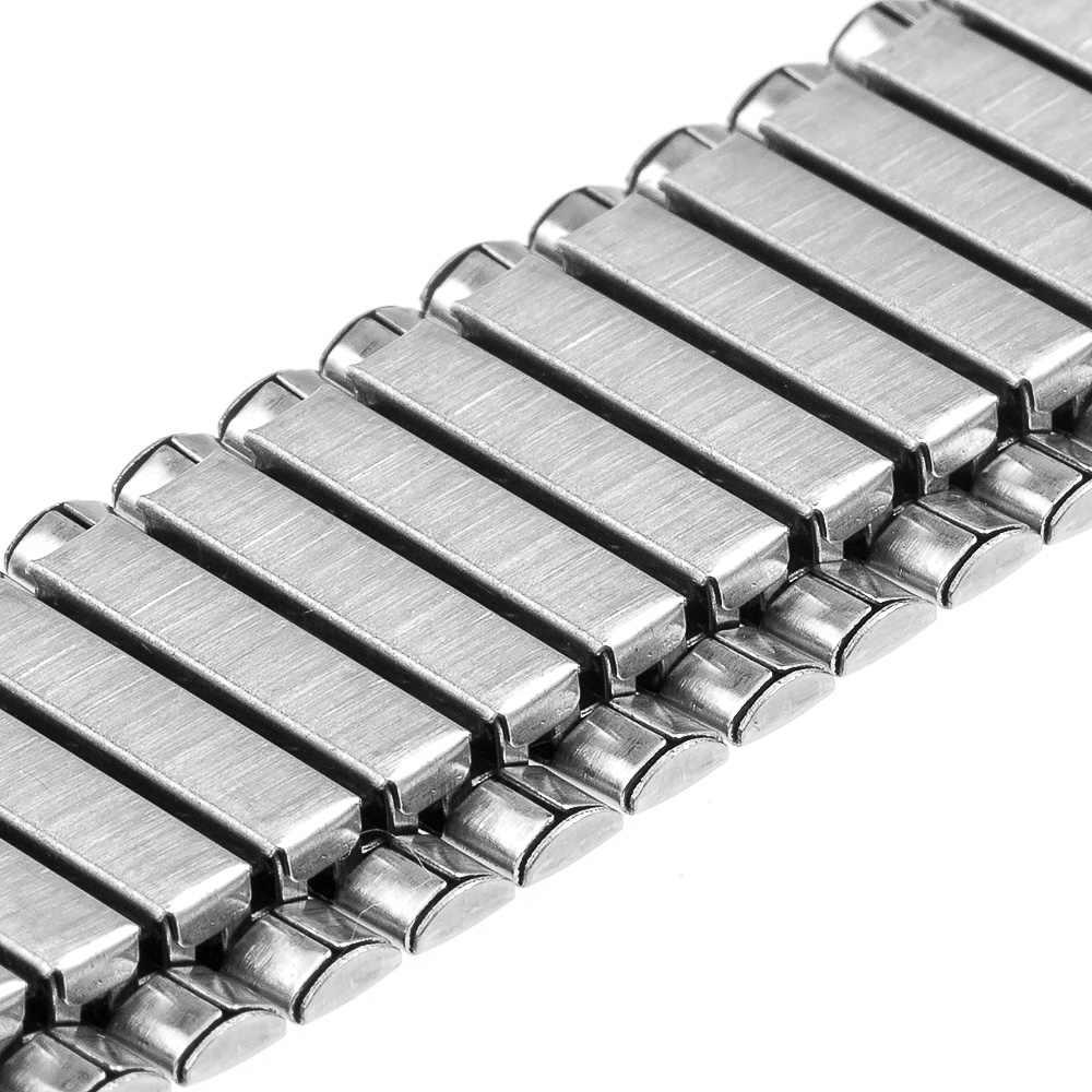 24mm elastyczny pasek do zegarka dla Sony Smartwatch 2 SW2 smartband z zegarkiem pasek ze stali nierdzewnej bransoletka zamienna srebro + narzędzie szpilki