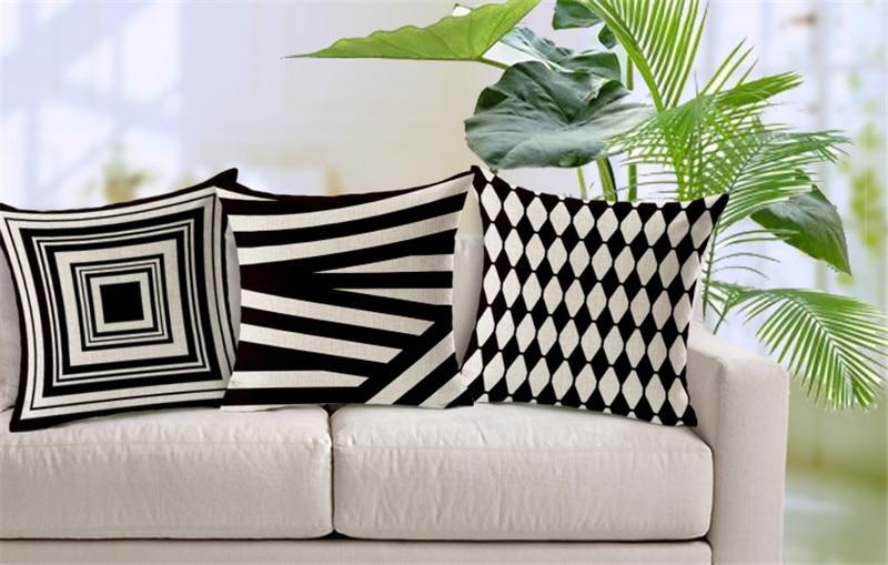 MHome Luxury Cushion Cover Pillow Pillowcase Bed Car Hotel Printed White Geometric Home Decor Vintage Modern Cushion