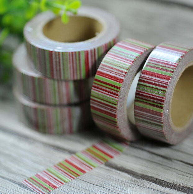 Hot sale sweet design good quality wholesale Color Fringe series paper tape Christmas de ...