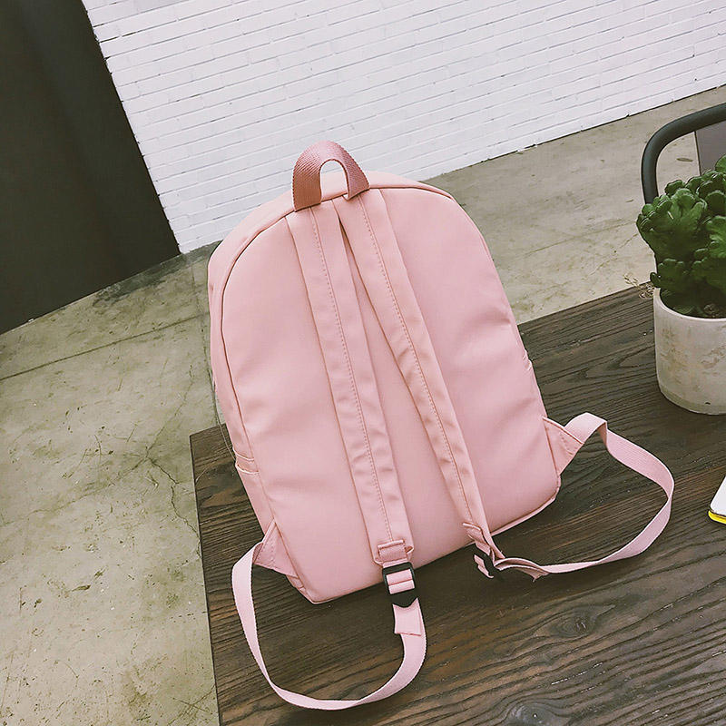2018 MENGHUO Brand Design Badge Women Backpack Bag Fashion School Bag for Girls  Female Chain Backpack 1c4926b6bc47d