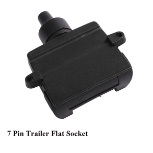 Image 5 - 12V Car Accessories 7 Pin Flat Trailer Socket 7 way  core pole  truck  male plug adapter Towing campe  Electrics Connector