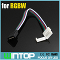Новый горячий 10 шт./лот 12 мм 5Pin RGBW из светодиодов полосы расширение разъем кабель паяльная шнур разъем для SMD5050 полосы света