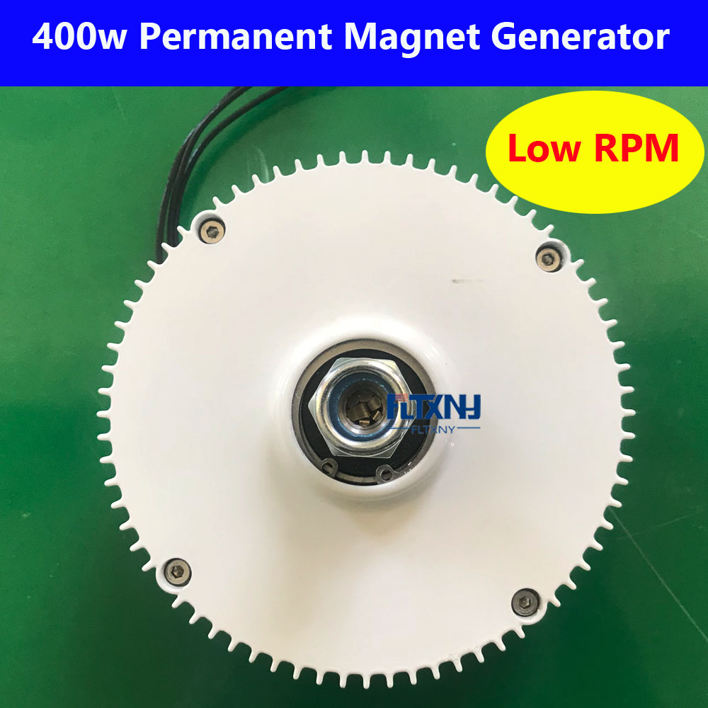 New 400w low rpm permanent magnet generator 12v 24v AC 3 phase out put for Wind turbine DIY