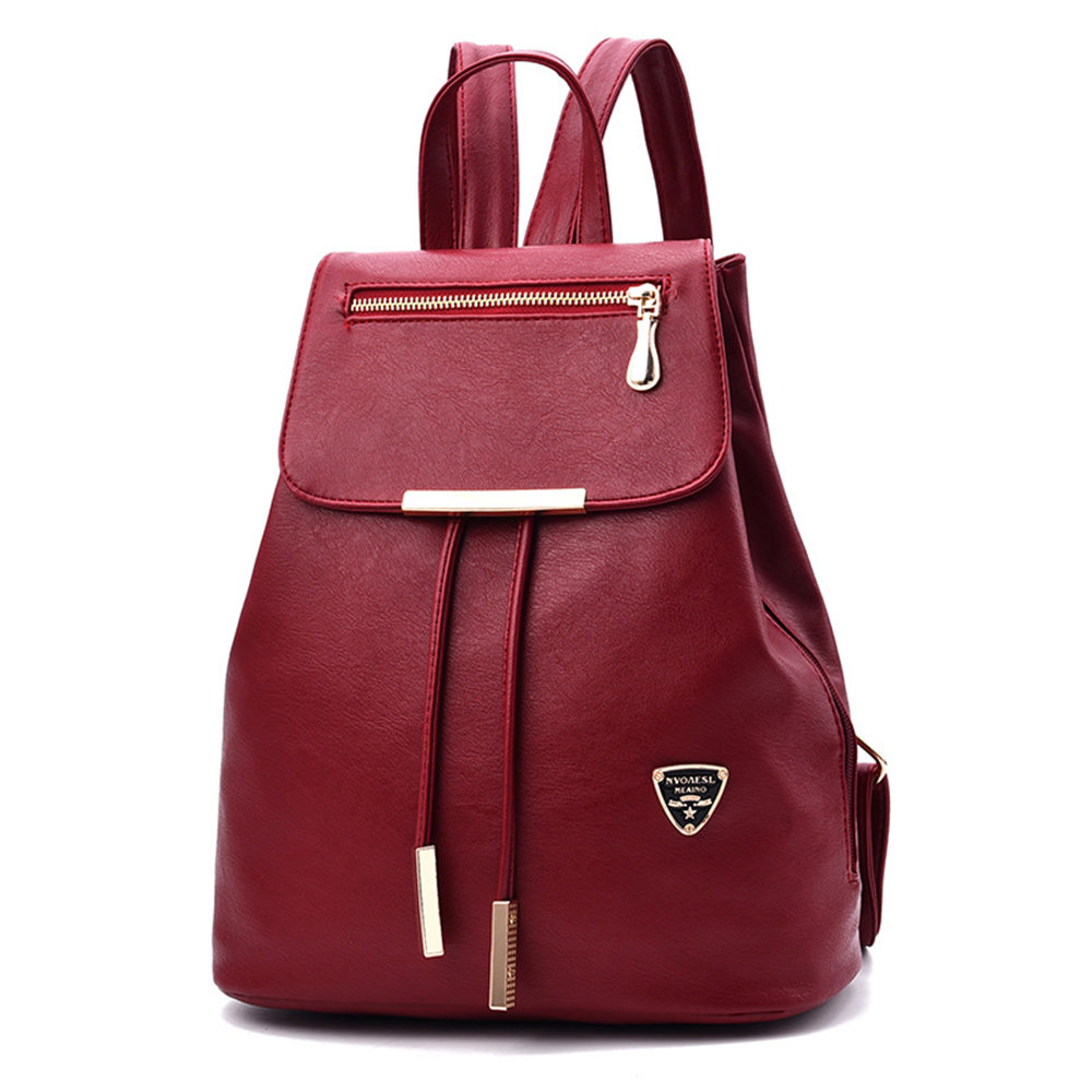 Casual PU Leather Backpack Colorful Girls Student School Bags Elegance Woman Bag Lady Travel Shopping Leisure Knapsack Backpacks
