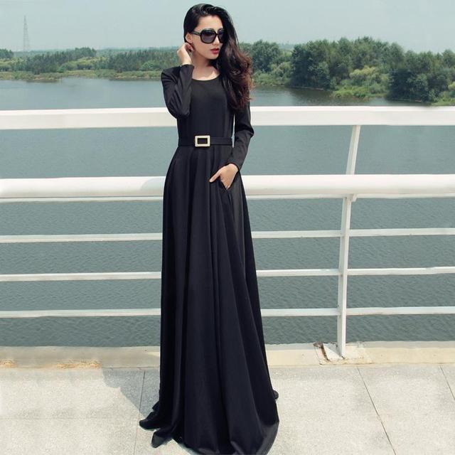 Alta calidad 2016 promoción limitada adultos moda Abaya islámico musulmán de la gasa ropa para mujer manga larga vestido de árabe W192
