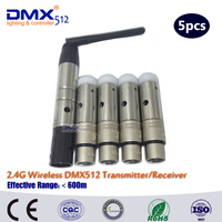 DHL Free Shipping 2 4G Wireless DMX Signal Controller For Stage Par Light 1PC Transmitter 4PC