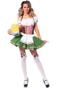 Image 5 - S 6XL Heißer Dirndl Deutsch Bier Maid Kostüme Frauen Oktoberfest Karneval Fancy Dress Up