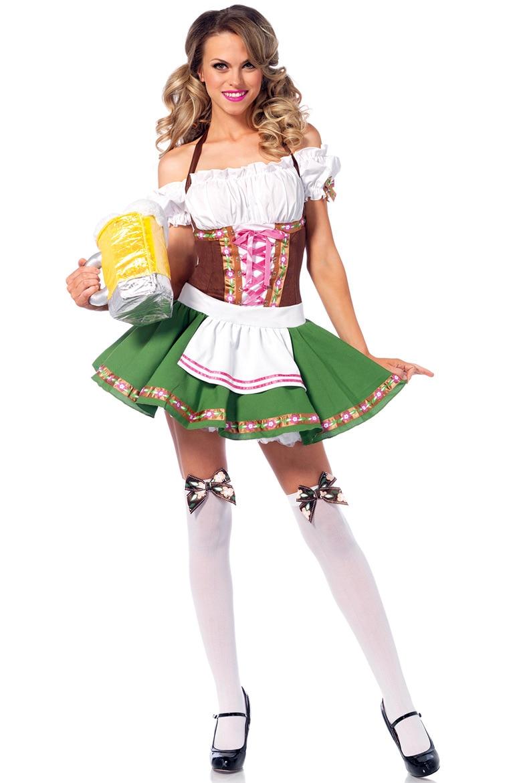 Image 5 - S 6XL Hot Dirndl German Beer Maid Costumes Women Oktoberfest Carnival Fancy Dress UpSexy Costumes   -