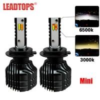 LEADTOPS Car LED Headlight Bulbs H7 H4 LED H8 H11 Auto Kit Dual Color Light Bulb