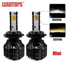 LEADTOPS Car LED Headlight Bulbs H7 H4 LED H8 H11 Auto Kit Dual Color Light Bulb Headlamp 3000K 6500K Yellow White Fog Light cj