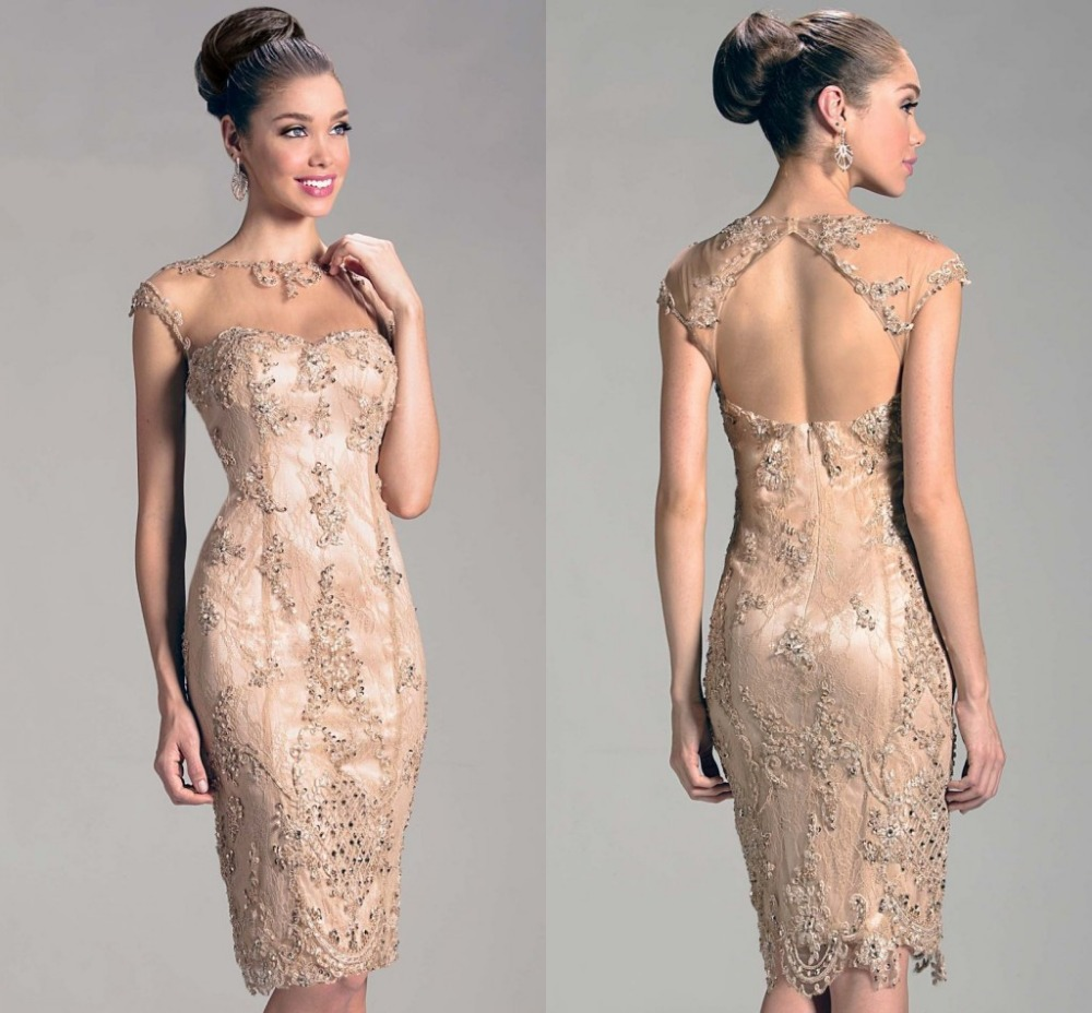 World Of Architecture 16 Simple Elegant And Affordable: 2014 New Design Elegant Evening Dress Champagne Knee