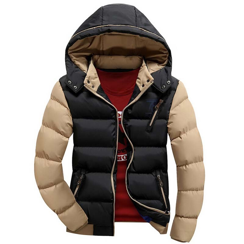 2017 New Arrival Men Jacket Warm Cotton Coat Mens Casual Hooded ...