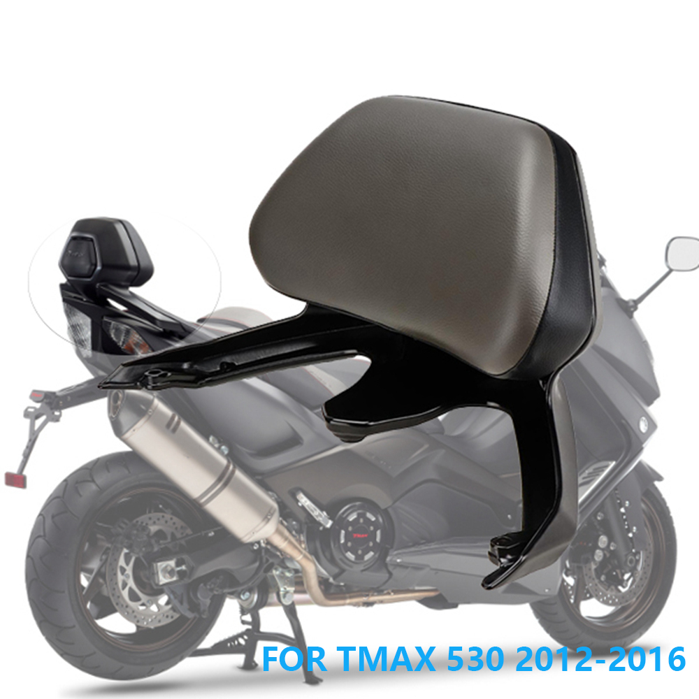 KEMiMOTO Motorcycle Accessories Back rest For YAMAHA T-MAX T MAX TMAX 530 2012 2015 TMAX530 Passenger Backrest Stay 2012-2016 feu led tmax 530